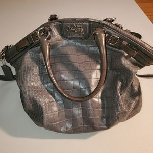 Coach hobo shoulder/ crossbody grey bag